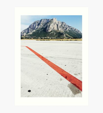 Red Line on Airfield Art Print