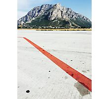 Red Line on Airfield Photographic Print