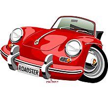 Porsche 356B roadster caricature Photographic Print