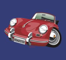 Porsche 356B roadster caricature T-Shirt