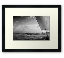 Sailing with the Jib. Framed Print