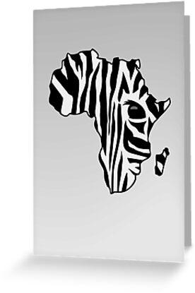 Zebra striped Africa by vivendulies