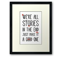 DOCTOR WHO STORIES Framed Print