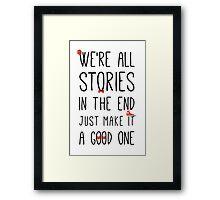 DOCTOR WHO STORIES Framed Print