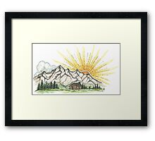 Mountain Sunshine Framed Print
