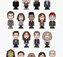 New Who Doctors and Companions (poster/card) by redscharlach