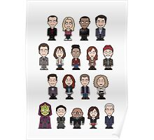 New Who Doctors and Companions (poster/card) Poster