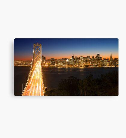 San Francisco Skyline at Night Canvas Print