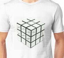 rubik's cube blanc Unisex T-Shirt