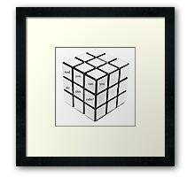 rubik's cube blanc Framed Print