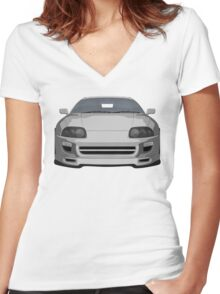 2000 s sports car Women's Fitted V-Neck T-Shirt