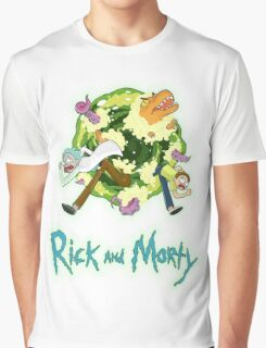 Rick and Morty (BLACK) Graphic T-Shirt