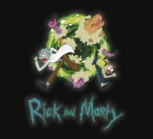 Rick and Morty (BLACK) One Piece - Short Sleeve