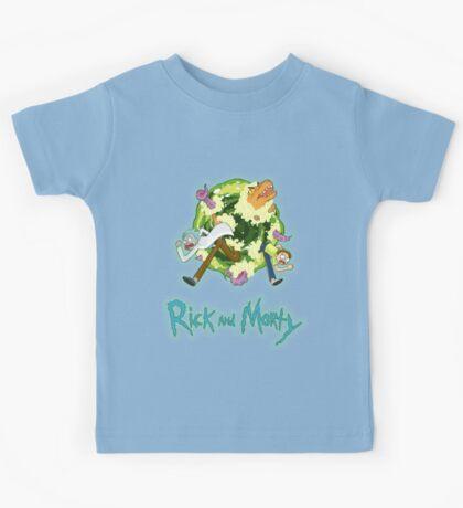 Rick and Morty (BLACK) Kids Tee