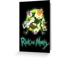 Rick and Morty (BLACK) Greeting Card