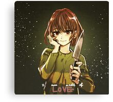 Undertale - Chara - I am made of LOVE Canvas Print