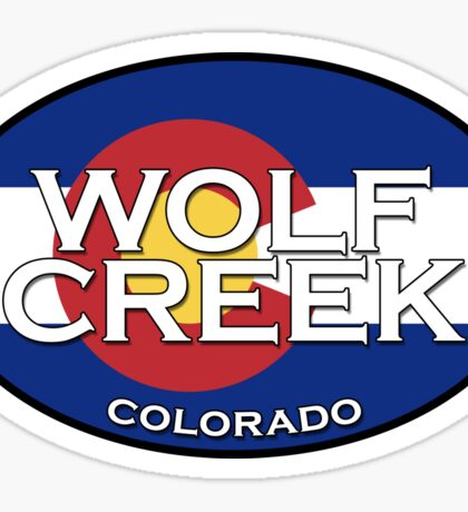 Wolf Creek Colorado!  State flag design Sticker