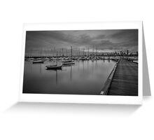 St Kilda marina, Melbourne Greeting Card