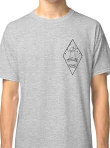 """Take Me Home"" Geometric UFO Classic T-Shirt"