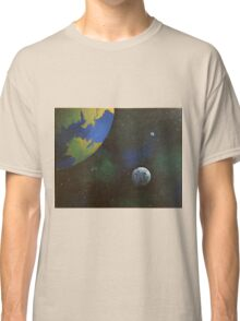 Planets In Space Acrylic Painting Classic T-Shirt