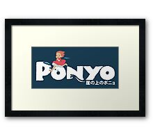 Ponyo fishy in the sea! Framed Print