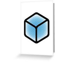 Cube Halftone Pixel Burst  Greeting Card