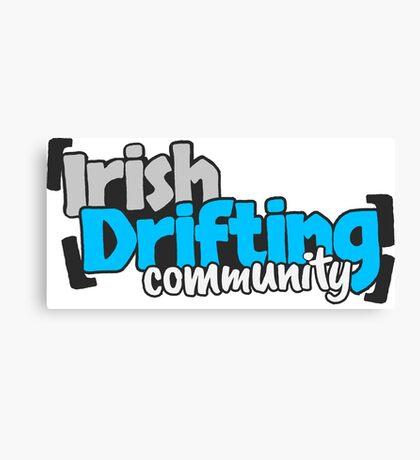 Irish Drifting Community - Blue Logo Canvas Print