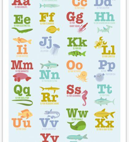 Aquatic Animals Alphabet Sticker