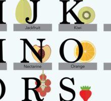 Fruit Alphabet Sticker