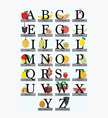 Fruit Alphabet Photographic Print