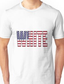 White (USA) Unisex T-Shirt