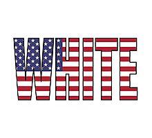 White (USA) Photographic Print
