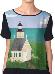 Michigan Lighthouse Chiffon Top