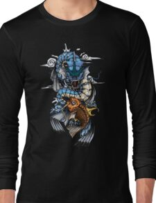 POKEMON - Magikarp evolves into Gyarados! - Japanese Tattoo Style Long Sleeve T-Shirt