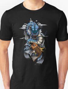 POKEMON - Magikarp evolves into Gyarados! - Japanese Tattoo Style Unisex T-Shirt