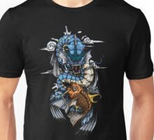 POKEMON - Magikarp evolves into Gyarados! - Japanese Tattoo Style Unisex T-Shirt