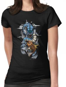 POKEMON - Magikarp evolves into Gyarados! - Japanese Tattoo Style Womens Fitted T-Shirt
