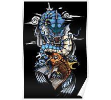 POKEMON - Magikarp evolves into Gyarados! - Japanese Tattoo Style Poster