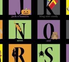 Halloween Alphabet Sticker