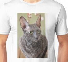 Cornish Rex blue Unisex T-Shirt