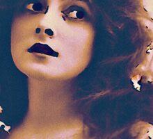 Actress in Flower Garland Sticker