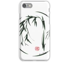 VISIONARY Original sumi-e enso ink brush wash painting iPhone Case/Skin