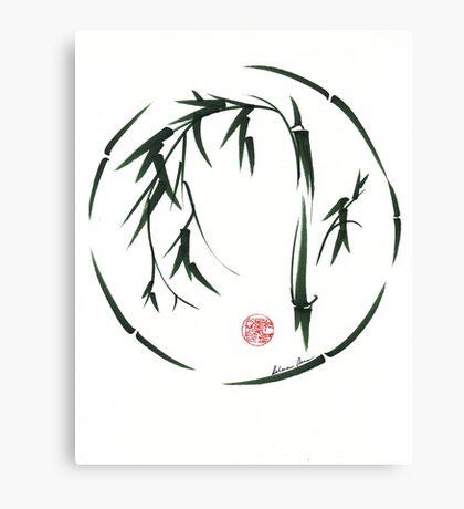 VISIONARY Original sumi-e enso ink brush wash painting Canvas Print
