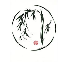 VISIONARY Original sumi-e enso ink brush wash painting Photographic Print
