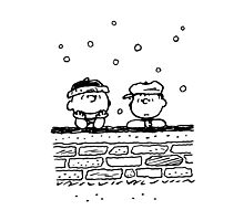 Charlie Brown and Linus Photographic Print