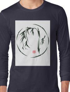 VISIONARY Original sumi-e enso ink brush wash painting Long Sleeve T-Shirt