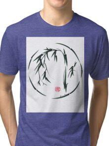 VISIONARY Original sumi-e enso ink brush wash painting Tri-blend T-Shirt