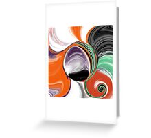 Abstract Orb in Orange, Purple, Green, and Black Greeting Card