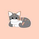 Clio Cat Loaf - Peach by Chopsy28