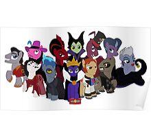 My Little Disney Villains  Poster